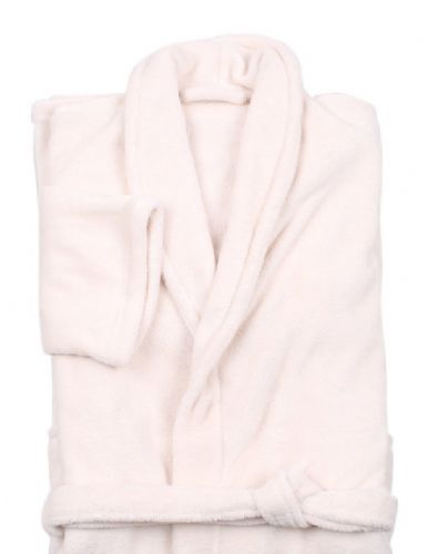 CREAM COLOUR LUXURY FLEECE MICROFIBRE BATH ROBE